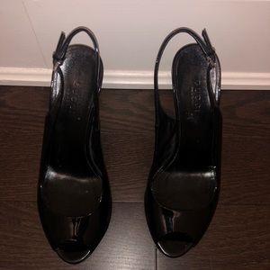 Gucci peep toe slingback sandal